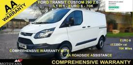 2018 Ford Transit Custom 2.0 290 L1 H1, 1 OWNER, FSH , 59K, EU 6 - 1 OWNER, FSH,