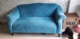 Teal 2 seater sofa