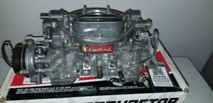 EDELBROCK 1411 CARB  750 cfm & External MSD fuel pump