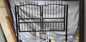 """Metal Gate Set 87-91"""" (Inches) Wide - For 4' Fence"""