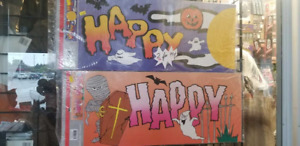 Halloween Banners 2 for 99 cents