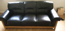 3 seater sofa + 2 footstools