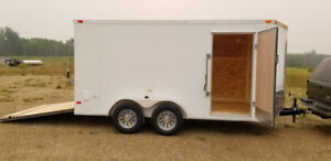 "New 2019 7x15' 8""Tandem V-Nose Cargo Trailer 7 8 10 12 14 16 18"