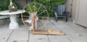 Vintage Decorative Large Antique Wheel