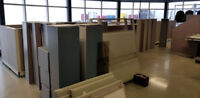 Office cubicle assembly
