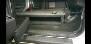 Custom made lockable gun box for F150