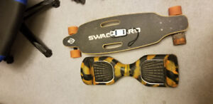 Trade hoverboard and electric longboard for rc car. Traxxas, etc