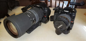 Canon Cameras and lenses and tripods