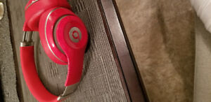 Beats by dre studio wireless headphones. Red edition.