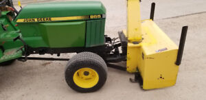 John Deere 855 Tractor with snowblower and mower $16800 WPG