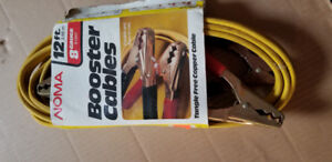 12 ft #8 Gauge Car Battery Booster Cables (Copper)