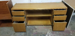 Light Brown Wooden Filing Cabinet