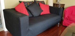 Set ofTwo Sofas and two chairs including a Round Dinning Table