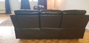 Excellent Leather Three Seater Sofa