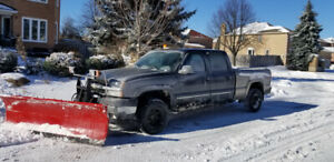 2004 chev silverado 2500 hd with snow plow
