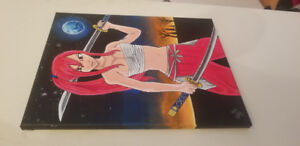 Painting of Erza Scarlett from fairy tail