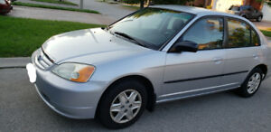 2003 HONDA CIVIC - SILVER - LOW KM!