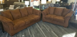 Darcy Cafe Sofa and Love Seat