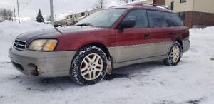 Subaru outback 2002 , Démarreur a distance , pneus d'hiver