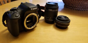 Canon EOS Rebel T6i + EFS 24mm and 18-55mm stock lens