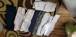 9 pairs total ladies pant, capri and short size 12-13