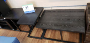 Brown Coffee and end tables $50+tax