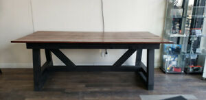 RUSTIC SOLID WOOD DINING TABLE