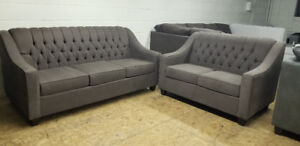 Brand New Tufted Sofa + Love Seat - Made in Canada