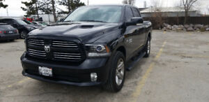 2017 ram 1500 sport crew cab (finance take over)