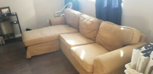 Light brown lounge couch