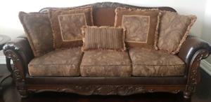Ashley fresco sofa set and coffee table set