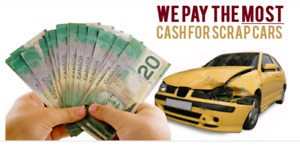 TOP$$CASH$$ FOR YOUR SCRAP CARS&USED CARS. (416)529-6625