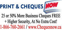 Get 25-60% More Cheques FREE On Every Order.