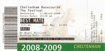 Ticket - Cheltenham National Hunt Festival 11.03.2009