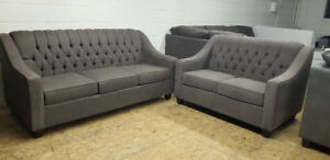 BRAND NEW -  CANADIAN MADE TUFTED SOFA + LOVE SEAT $1100