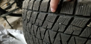 Set of 4 used Blizzak DM-V1 size 255/55-20 for SUV (TIRES ONLY)