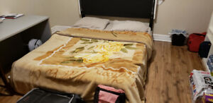 Selling queen sized bed (6 inch gel foam+frame) MUST GO