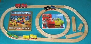 Toyland EXpress&Chuggington with 2 sets of wooden train tracks