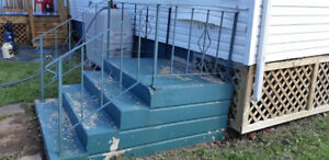 Concrete Stairs with Rod Iron Raillings