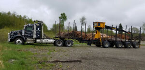 Truck trailer with prentice loader