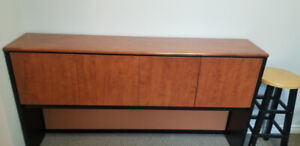 "Bookcase to Sit on Top of a 72"" Credenza"