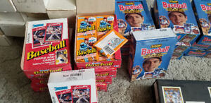 Baseball and Hockey Cards Complete Sets some unopened