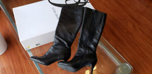 Nine West Leather Boots (Black) Size 6.5, 3 inches barely used $