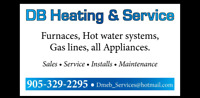 Furnaces, Acs, Gas lines, Appliances, Hot water systems