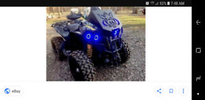 Can am Renegade halo light kit (blue)