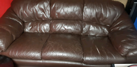 Free to collect Leather Sofa