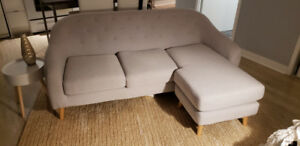 Light grey sectional couch for sale!