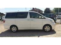 TOYOTA ALPHARD 2 BERTH CAMPERVAN WITH REAR CONVERSION AND FRIDGE