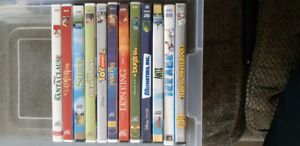 DVDs - 12 Kids Movies (mostly Disney)
