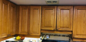 Kitchen cabinet real wood doors